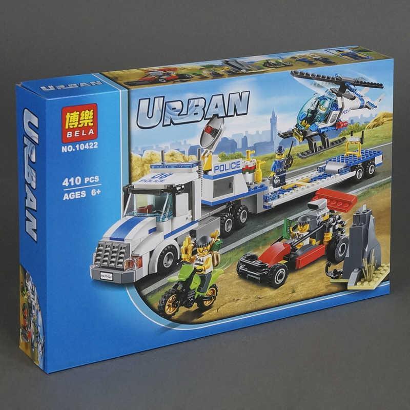 """Конструктор 10422 Bela Urban (24) """"Перевозчик вертолета"""" 410 деталей, в коробке"""