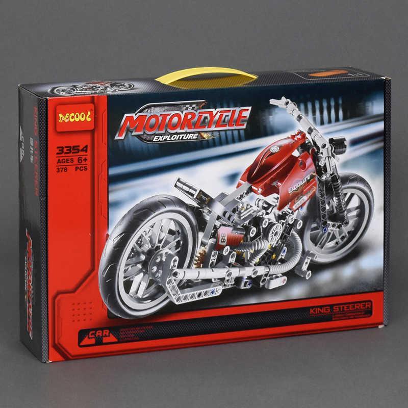 """Конструктор 3354 (18) """"Мотоцикл"""", 378 дет, в коробке"""