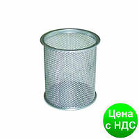 Подставка для ручек круглая 80х80х97мм, металлическая, серебро BM.6202-24