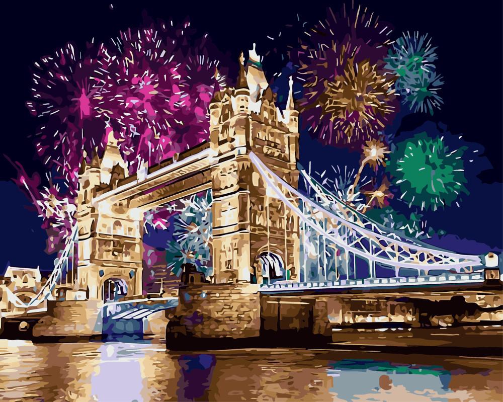 Картина по номерам Салют над Лондоном, 40x50 см., Brushme