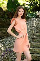 """Летнее платье """"Modest"""" - распродажа модели 46-48, персиковый"""