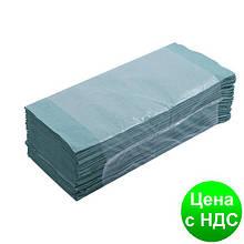 Полотенца бумажные макулатурные Z-подобные.,160шт., зеленые 10100102