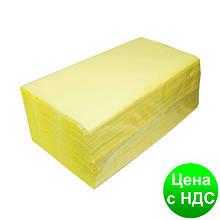 Рушники паперові целюлозные Z-подібні.,160 шт., 2-х слойні, жовтий 10100104
