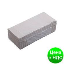 Рушники паперові макулатурні Z-подібні.,160 шт., сірі 10100101