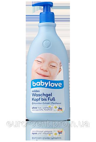 Детский гель для купания с экстрактом ромашки Babylove Mildes Waschgel Kopf bis Fuß