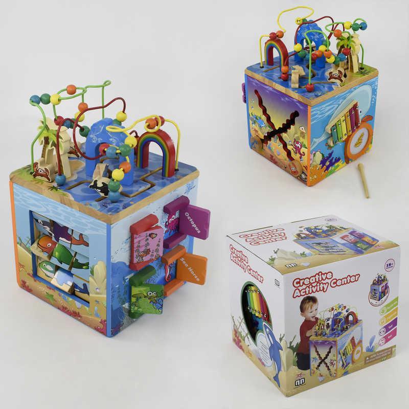 Куб логический Е 21386 деревянный (1) в коробке