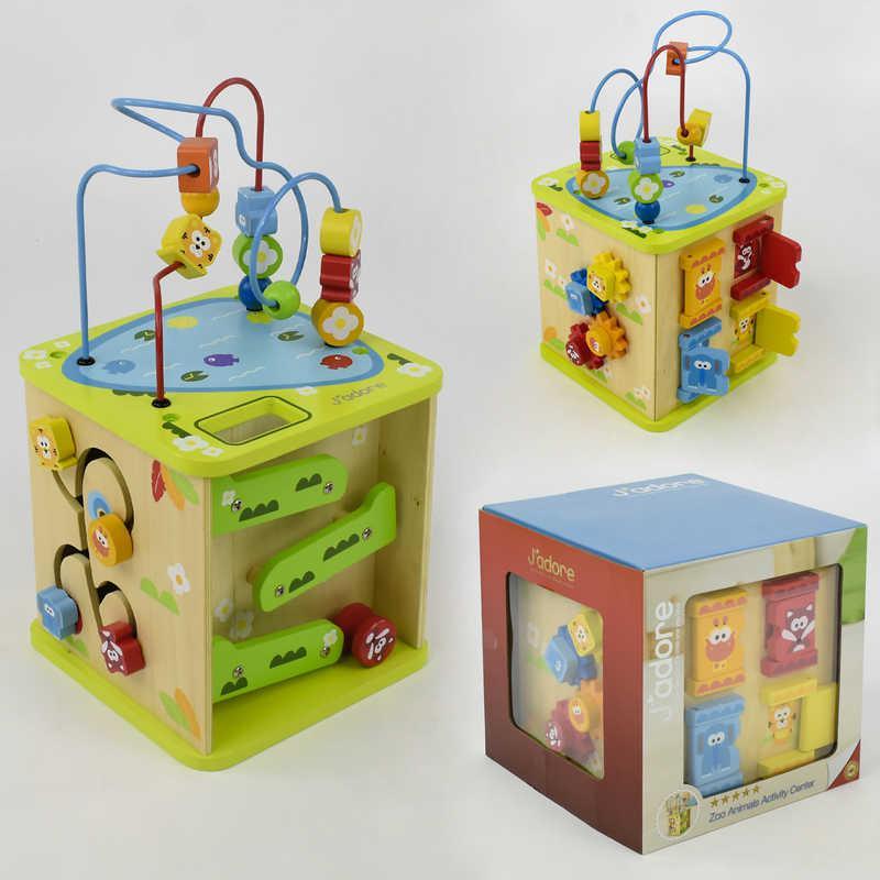 Куб логический Е 21383 деревянный (4) в коробке