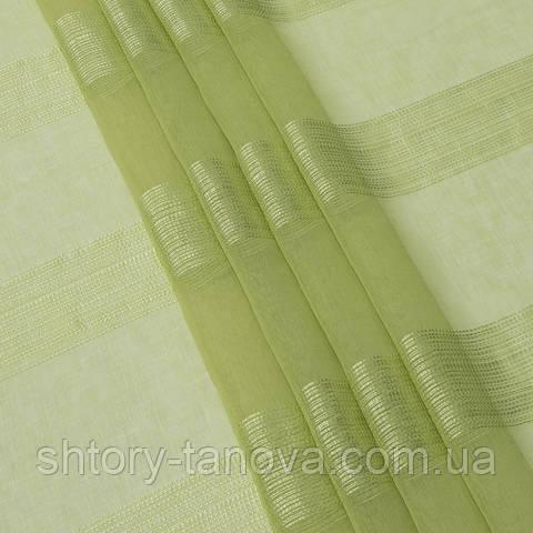 Тюль кисея, толстые полосы липа