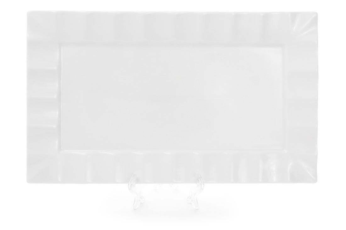 Тарелка для суши прямоугольная 36см цвет - белый (988-105)