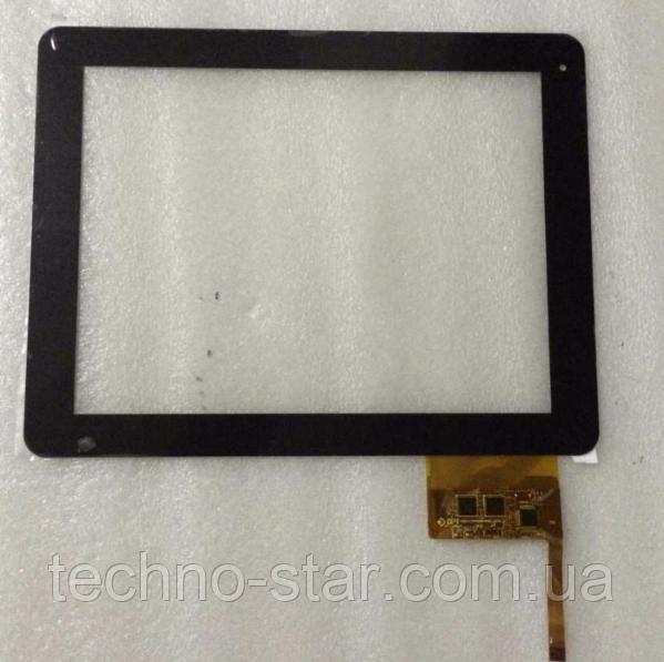 Оригинальный тачскрин / сенсор (сенсорное стекло) для Texet TM-9740 (черный цвет, тип 1, самоклейка)