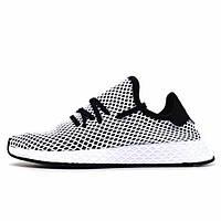 Кроссовки мужские Adidas Deerupt Runner White Black CQ2626 (реплика) 3d47925280818
