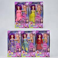 Кукла беременная 8803 Е 5 видов (120) 5 видов, в коробке