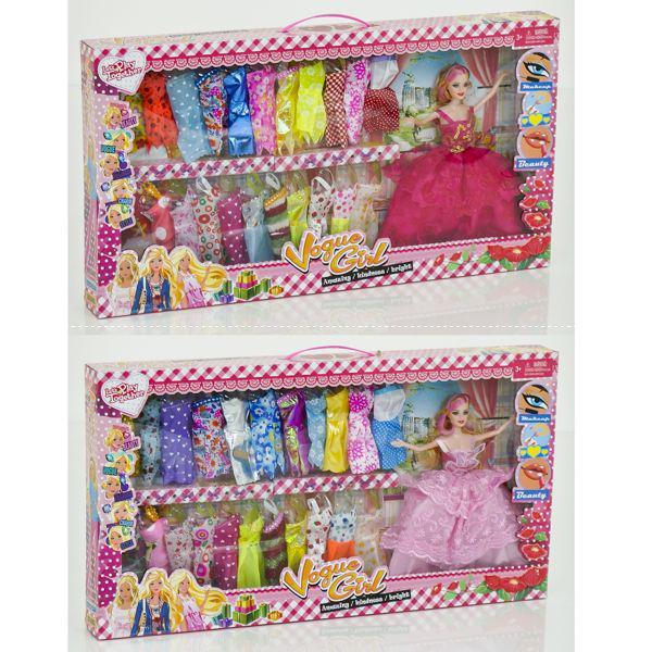 Кукла с нарядом D 23-1 (20/2) 2 вида, в коробке