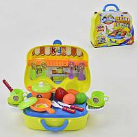 Кухня 008-919 А (24) плита, посуда, овощи в чемодане на колесах