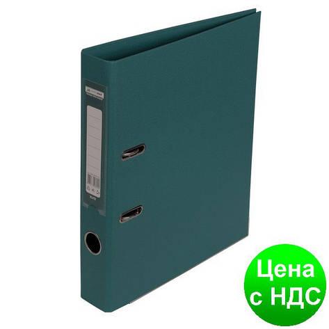Регистратор ELITE двухстор. А4, 50мм, PP, тем.зеленый, сборный BM.3002-16c, фото 2