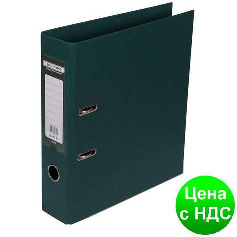 Регистратор ELITE двухстор. А4, 70мм, тем.зеленый, PP, сборный BM.3001-16c, фото 2