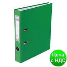 Регистратор LUX одност. JOBMAX А4, 50мм PP, зеленый, сборный BM.3012-04c