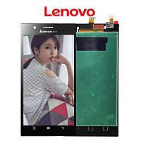Дисплей Lenovo K900 с сенсором черный