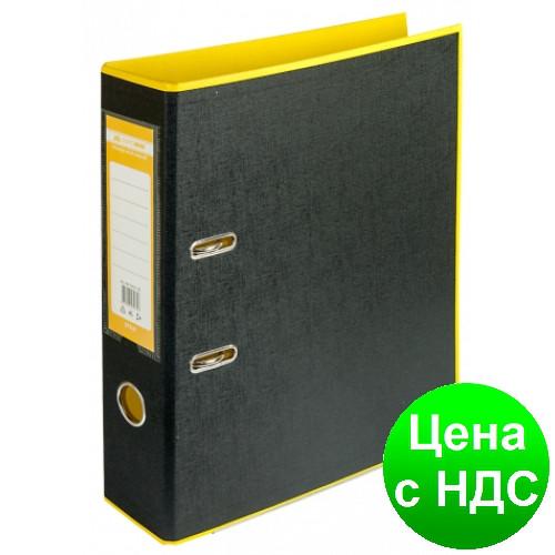 Регистратор STYLE двухстор. А4, 70мм, PP, желтый/черный, PP, сборный BM.3005-08c