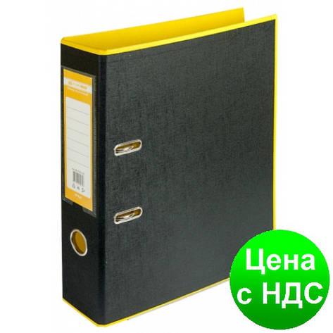 Регистратор STYLE двухстор. А4, 70мм, PP, желтый/черный, PP, сборный BM.3005-08c, фото 2