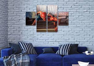 Модульные картины детских тематик, на Холсте син., 50x80 см, (25x18-2/50х18-2), фото 3
