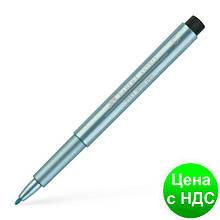 Ручка 167392 'М' БЛАКИТНИЙ МЕТАЛІК PITT 24347