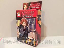 Мини фигурки мстителей Heroes assemble sy276 Черная вдова  , фото 2