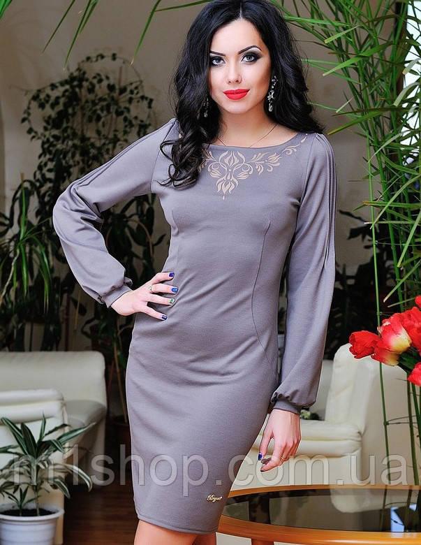 Женское платье с рукавом на манжете (0661-0662-0663 svt)