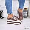 Туфли женские на платформе Star пудра 5299, женская обувь