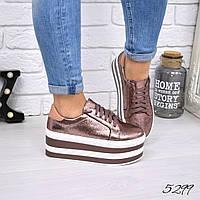 Туфли женские на платформе Star пудра 5299, женская обувь, фото 1
