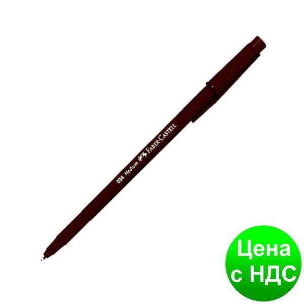Ручка шариковая 034-F  ЧЕРНАЯ  15035