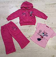 Трикотажный костюм-тройка для девочек оптом, Crossfire, 6-36 мес., арт.CS-1427, фото 3