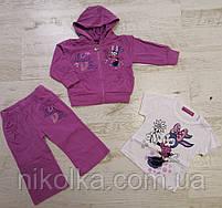 Трикотажный костюм-тройка для девочек оптом, Crossfire, 6-36 мес., арт.CS-1427, фото 2