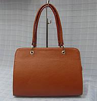 Женская сумка модель 1342 рыжая гладкая искусственная кожа, фото 1
