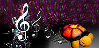 Музыкальный ночник черепаха, проектор звездного неба Распродажа