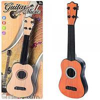 Гитара 1312D, 32см, струны 4шт, 2цвета, на листе, 16, 5-41-3см