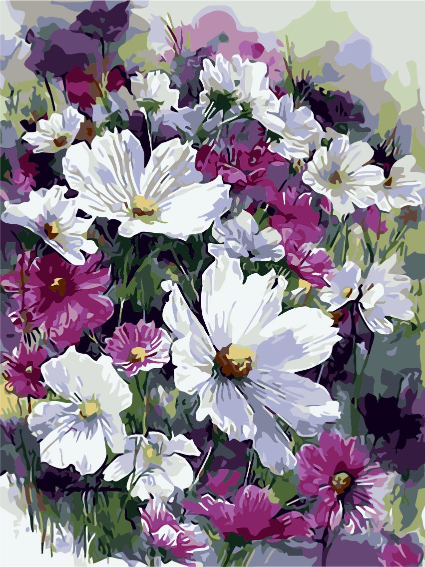 Роспись по номерам Лиловые цветы ArtStory AS0241 40 х 50 см