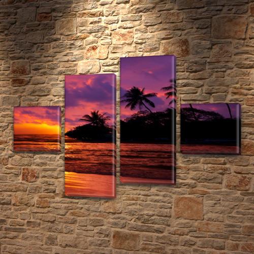 Купить модульную картину на Холсте син., 50x80 см, (18x18-2/45х18-2)