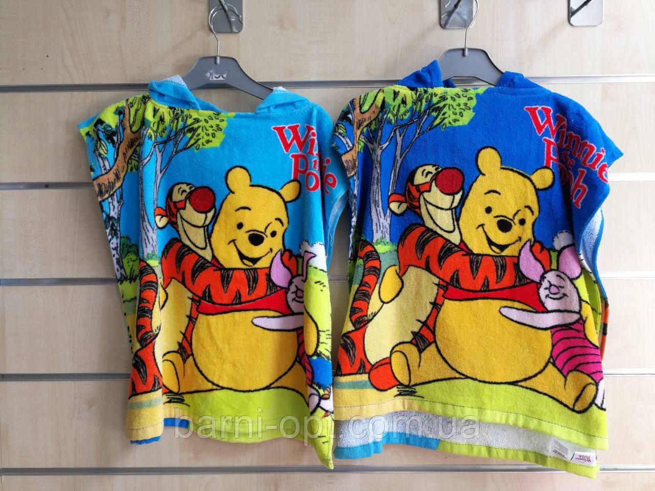Полотенце-пончо детские оптом, Disney,  50*100 см