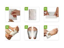 Пластырь для выведения токсинов - Kinoki -Detox Foot Patch