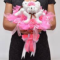 Мягкие игрушки в букете №94 Оригинальный подарок девочке, ребёнку, дувушке, подруге, маме