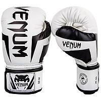 Боксерские перчатки Venum Elite Boxing Gloves White/Black (1392-WB) 10