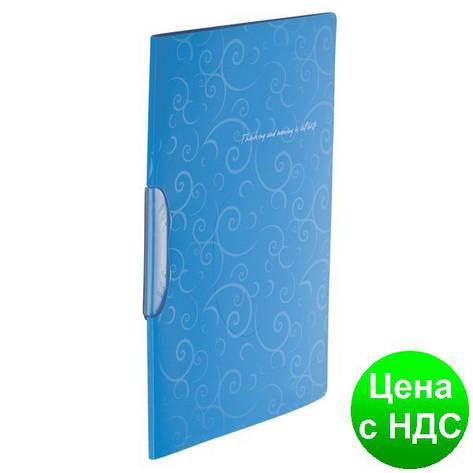 Скоросшиватель А4 с поворотным прижимом, BAROCCO, голубой BM.3303-14, фото 2