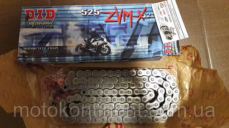 Мото цепь  525 DID 525ZVM-X 68 стальная для мотоцикла ( в к-те замок ZJ) сальник X 2 -Ring, фото 2