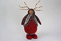 Декоративная фигура Олень со светящимися рогами 64см