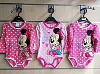 Бодики для девочек оптом, Disney, 50-86 рр.