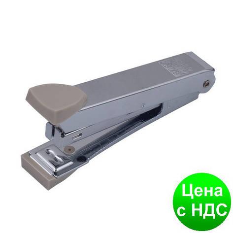 Степлер металлический до 12листов, (Скобы №10), серый BM.4152-09, фото 2
