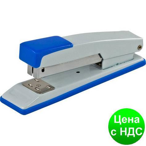 Степлер металлический до 20листов подлина (Скобы №24, 26), JOBMAX, синий BM.4259-02, фото 2
