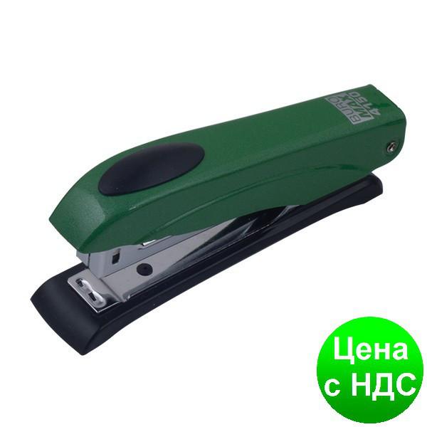 Степлер металлический металлик до 12листов, (Скобы №10), зеленый BM.4150-04