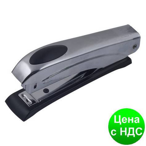 Степлер металлический металлик до 12листов, (Скобы №10), серебрянный BM.4150-24, фото 2